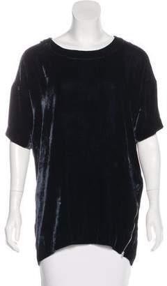 Etoile Isabel Marant Silk-Blend Velvet Top