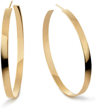 Lana 14k Flat Hoop Earrings, 2""