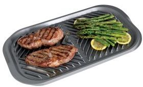 Nordicware Flat Top Reversible Two-Burner Grill Griddle, 19226