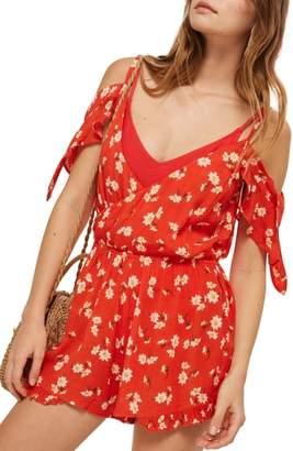Topshop Daisy Floral Print Jumpsuit