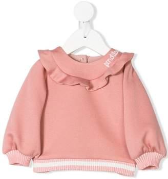 Fendi ruffle collar sweatshirt