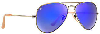 Ray-Ban RB3025 Aviator Flash Lenses 55 mm Sunglasses $170 thestylecure.com