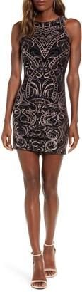 Speechless Glitter Knit Body-con Sheath Dress