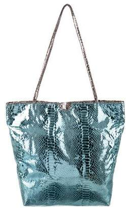 Carlos Falchi Fatto a Mano by Metallic Embossed Tote