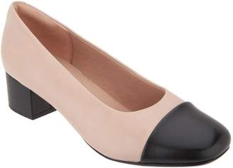 Clarks Leather Blocked Heeled Pumps - Chartli Diva