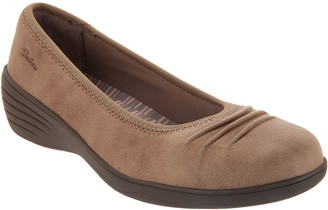 Skechers Skimmer Slip-On Wedges - Ruffled