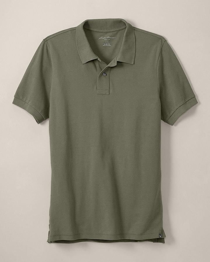 Eddie Bauer Slim Fit Short-Sleeve Field Pique Polo Shirt