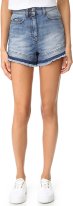 RED Valentino Two Tone Denim Shorts $375 thestylecure.com