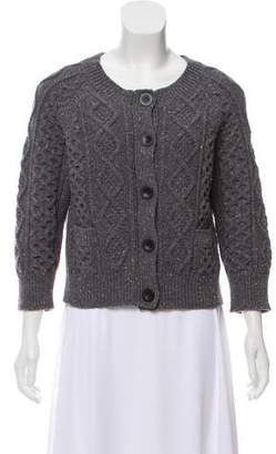 Aubin and Wills Wool Cable Knit Cardigan