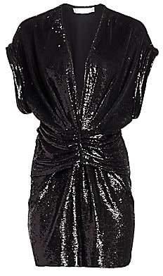 IRO Women's Lilou Ruched Sequin Dress