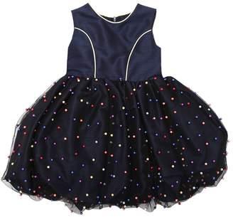 La Stupenderia Embellished Shantung & Tulle Party Dress