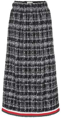 Gucci Boucle pleated midi skirt