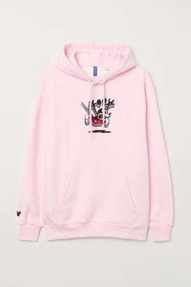 H&M Oversized Hooded Sweatshirt - Pink