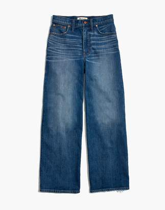 Madewell Wide-Leg Crop Jeans in Finney Wash
