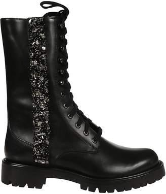 Rene Caovilla Rhinestone Embellished Boots