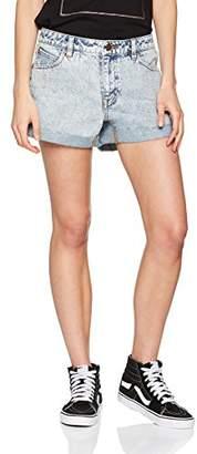 Volcom Women's Hot Pants Stoned Short Rolled Blue Hot Pants, Womens, B1911801CLB,4
