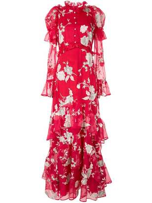Erdem floral print evening dress