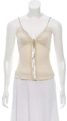 J. Mendel Embellished Sleeveless Top