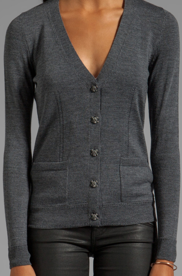 Milly Knit Skull Button Cardigan