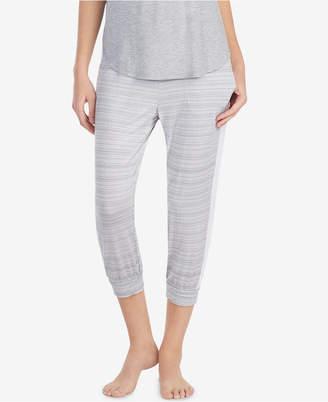 DKNY Contrast-Band Cropped Pajama Pants