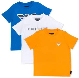 Emporio Armani Kids TEEN set of three T-shirts