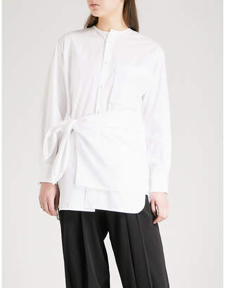Y's Ys Tie-waist cotton shirt