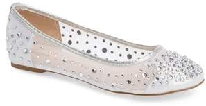 Ralph Lauren Lorraine Crystal Embellished Ballet Flat