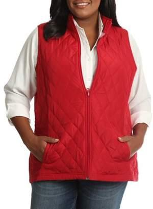 Lee Riders Women's Plus Quilted Reversible Vest