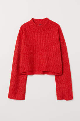 H&M Knit Mock Turtleneck Sweater - Red