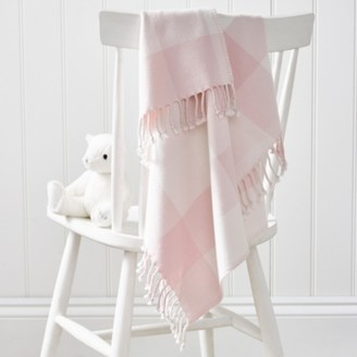 The White Company Pink Gingham Check Baby Blanket, Pink, One Size