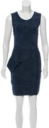 Yigal Azrouel Cut25 by Asymmetrical Peplum Dress