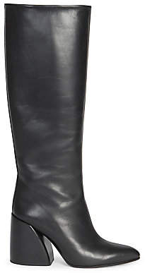 Chloé Women's Wave Leather Block Heel Tall Boots