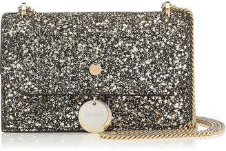 Jimmy Choo FINLEY Gold Mix Star Coarse Glitter Mini Cross Body Bag