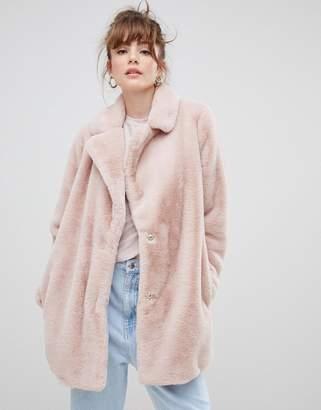 New Look coat in faux fur