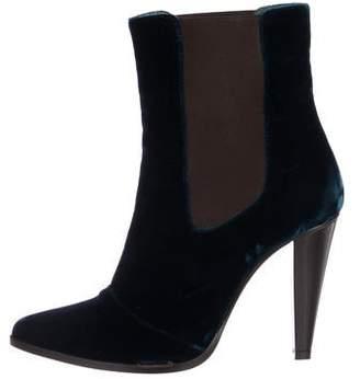 Jenni Kayne Velvet Pointed-Toe Ankle Boots
