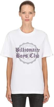 Bbc-Billionaire Boys Club College Flocked Cotton Jersey T-Shirt