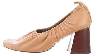 Celine Round-Toe Leather Pumps
