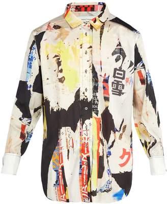 Marques Almeida MARQUES'ALMEIDA Oversized printed satin shirt
