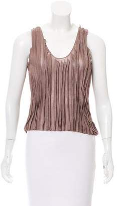 Calvin Klein Collection Pleated Sleeveless Top