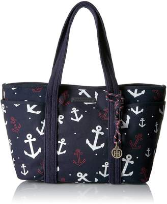 Tommy Hilfiger Th Dariana Falling Anchors Canvas Tote