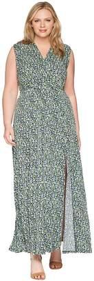 MICHAEL Michael Kors Size Wildflowers Slit Maxi Dress Women's Dress