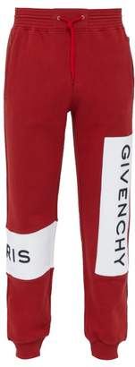 Givenchy Logo Embroidered Cotton Track Pants - Mens - Red