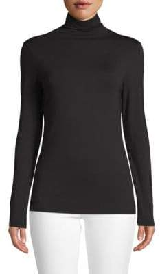 Saks Fifth Avenue BLACK Turtleneck Long-Sleeve Tee