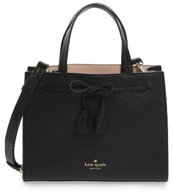 Kate Spade New York Hayes Street Small Isobel Leather Satchel - Black