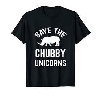 Save The Chubby Unicorns TShirt Funny Rhino Shirt