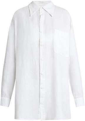 ROXANA SALEHOUN Oversized linen shirt