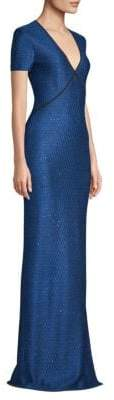 St. John Luster Sequin-Knit Gown