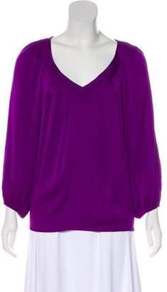 Diane von Furstenberg Silk Long Sleeve Blouse