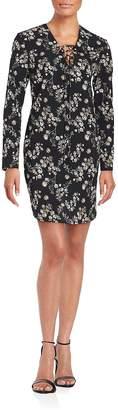 Amanda Uprichard Women's Long Sleeve Floral Printed Dress
