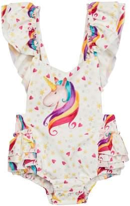 Paulinie Unicorn Romper (Baby Girls)